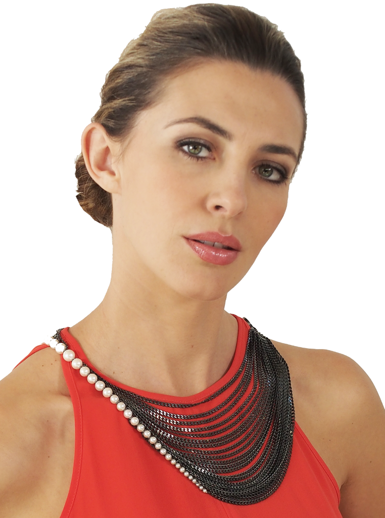 Convertible Pearl Necklace by Melanie Georgacopoulos