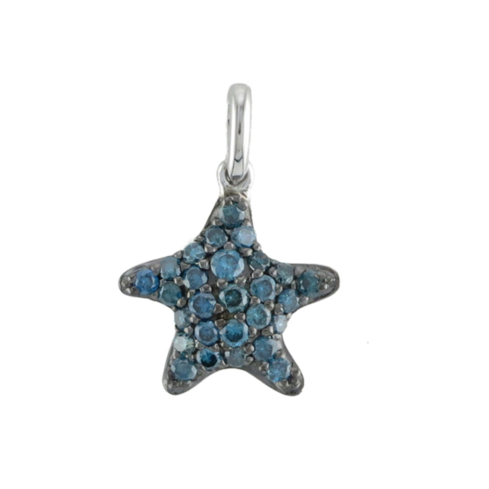Blue Diamond Pavé Starfish Pendant - Talisman Collection Fine Jewelers