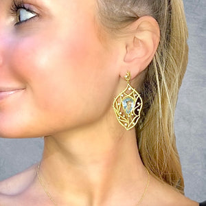 Aquamarine Lemongrass Breeze Earrings by Laurie Kaiser - Talisman Collection Fine Jewelers