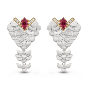 Tiered Scales Earrings by Manya & Roumen - Talisman Collection Fine Jewelers