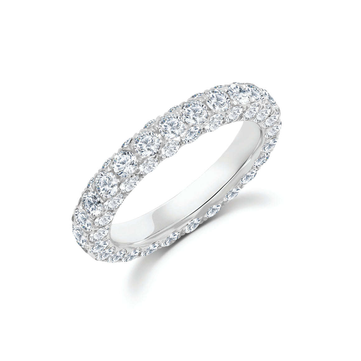 Diamond 3 Sided Eternity Band by Graziela - Talisman Collection Fine Jewelers