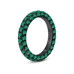 Emerald 3 Sided Eternity Band by Graziela - Talisman Collection Fine Jewelers