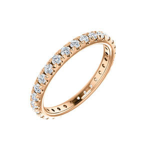14k Gold 7/8 Carat French Set Diamond Eternity Band - Talisman Collection Fine Jewelers