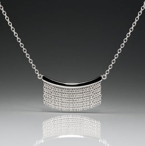 Medium Fringe Necklace - Silver - Talisman Collection Fine Jewelers