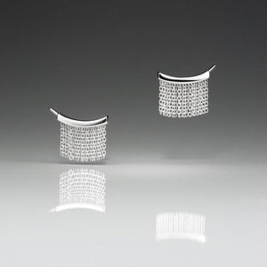 Small Fringe Ear Climbers - Silver - Talisman Collection Fine Jewelers
