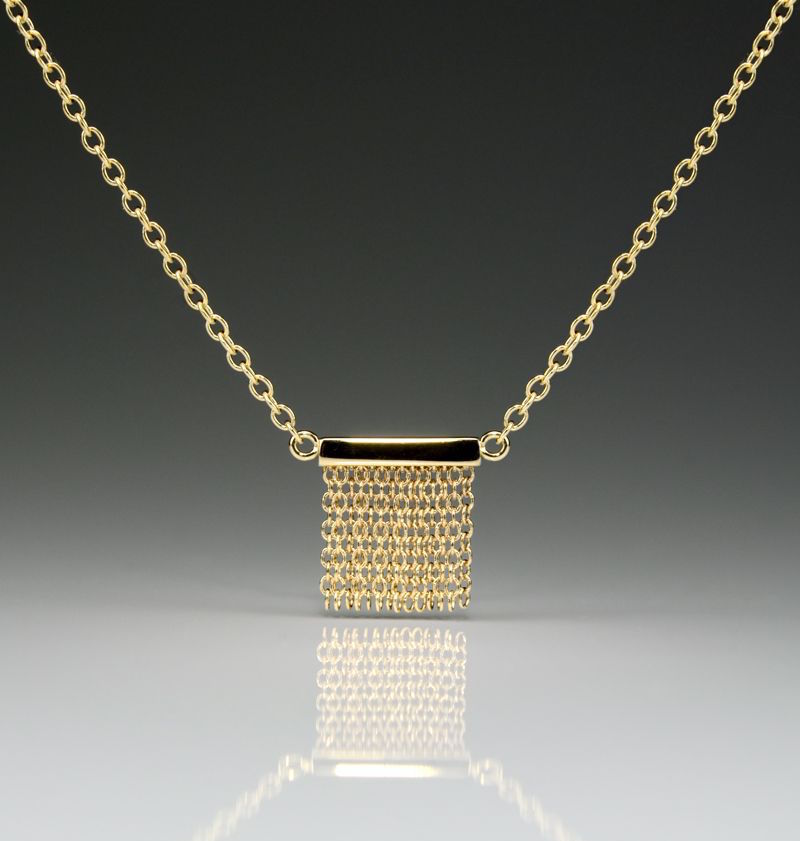 Small Fringe Necklace - 14k Yellow Gold - Talisman Collection Fine Jewelers