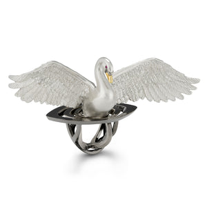 Landing Swan Ring by Manya & Roumen - Talisman Collection Fine Jewelers