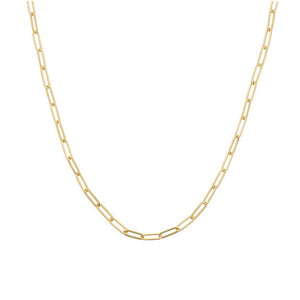 Paperclip Chain 14k Gold, Semi-solid, 5mm Links