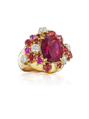 Melting Ice Rubellite Ring by MadStone - Talisman Collection Fine Jewelers