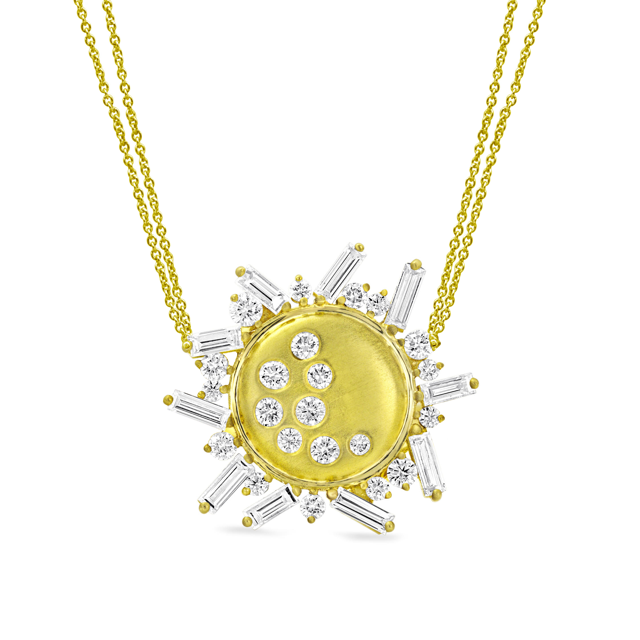 Diamond Eclipse Necklace by Meredith Young - Talisman Collection Fine Jewelers