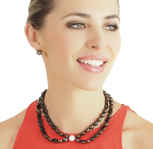 Sliced Black South Sea Pearl Necklace by Melanie Georgacopoulos - Talisman Collection Fine Jewelers