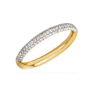 14k Gold Pave Diamond Anniversary Band - Talisman Collection Fine Jewelers