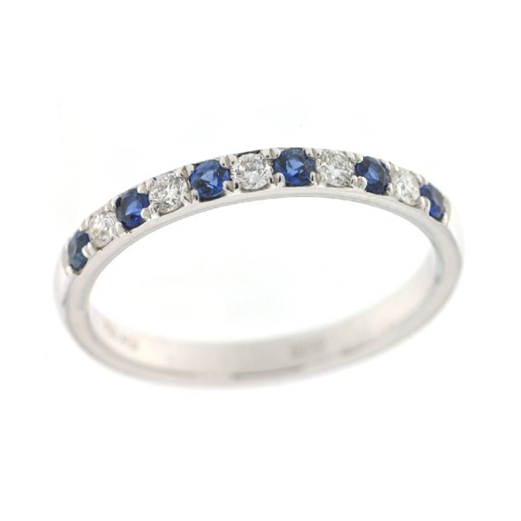 Sapphire and Diamond Alternating Stack Band - Talisman Collection Fine Jewelers