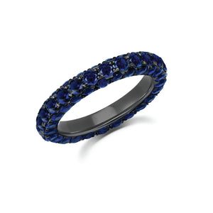 Sapphire 3 Sided Eternity Band by Graziela - Talisman Collection Fine Jewelers