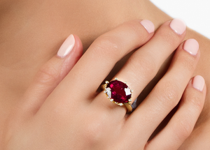 Rubellite and Diamond Ring by Suzy Landa - Talisman Collection Fine Jewelers