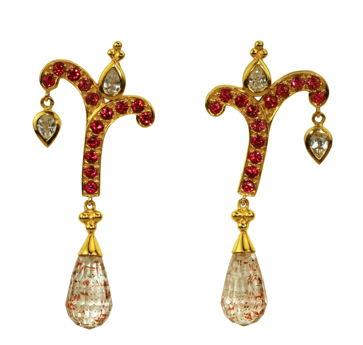 """Giving Tree"" Rare Spinel Earrings by Paula Crevoshay - Talisman Collection Fine Jewelers"