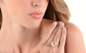 """Deep Blue"" Burmese Sapphire and Diamond Ring by Paula Crevoshay - Talisman Collection Fine Jewelers"