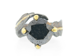 Black Diamond Solitaire by Atelier Minyon - Talisman Collection Fine Jewelers
