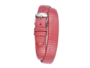 Philip Stein Pink, Cream, Red Black or White Lizard Double-Wrap Watch Strap, Size 4 (12 mm) - Talisman Collection Fine Jewelers