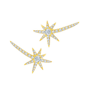 Diamond Shooting Starburst Stud Earrings by Graziela - Talisman Collection Fine Jewelers