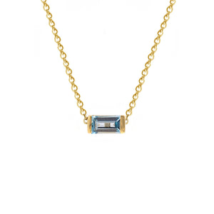 Swiss Blue Topaz Bonbon Necklace