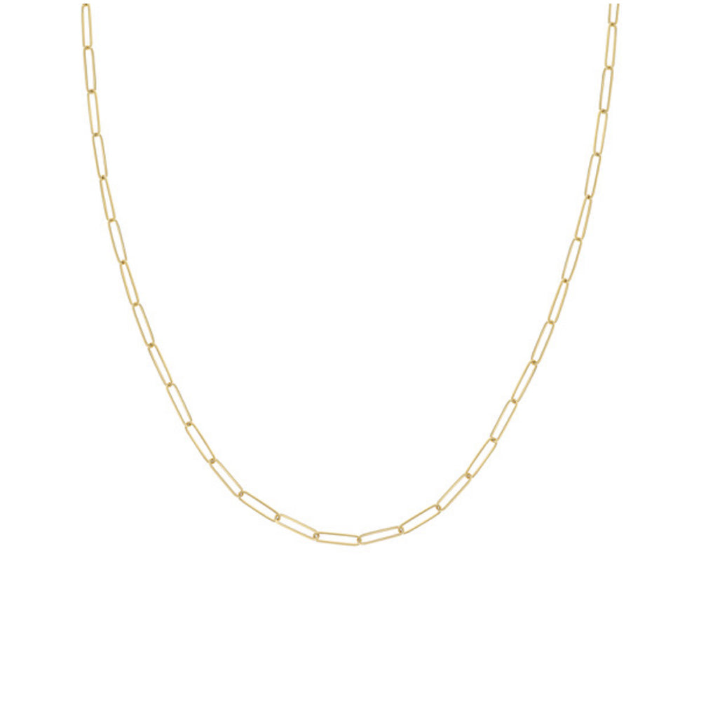 Paperclip Chain 14k Gold, Semi-solid, 3.9mm Links