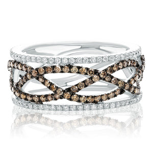 Champagne and White Diamond Eternity Band - Talisman Collection Fine Jewelers