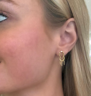"18k Yellow Gold ""Marvel"" Studs by Unhada - Talisman Collection Fine Jewelers"