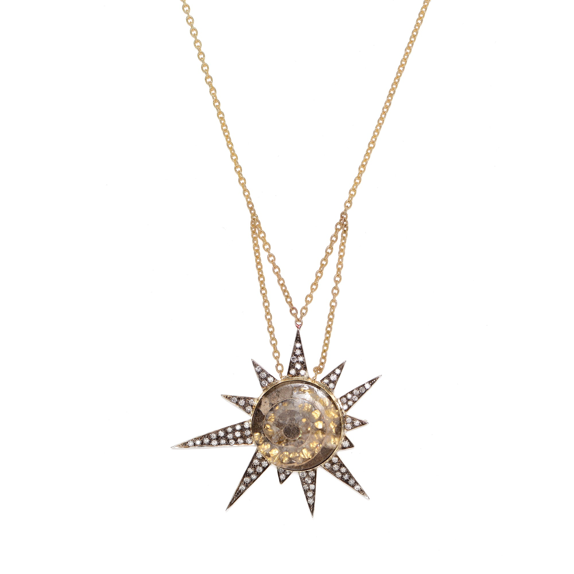 "Ammonite ""Star Machine"" Necklace by Unhada - Talisman Collection Fine Jewelers"