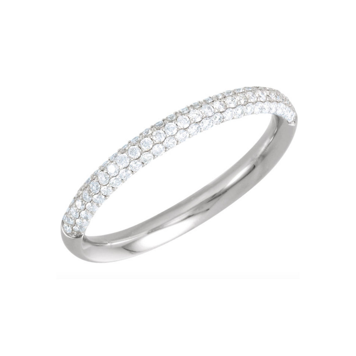 Pave Diamond Stack Band in White, Yellow or Rose Gold - Talisman Collection Fine Jewelers