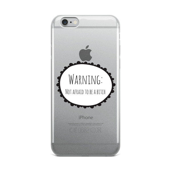 Warning iPhone Case