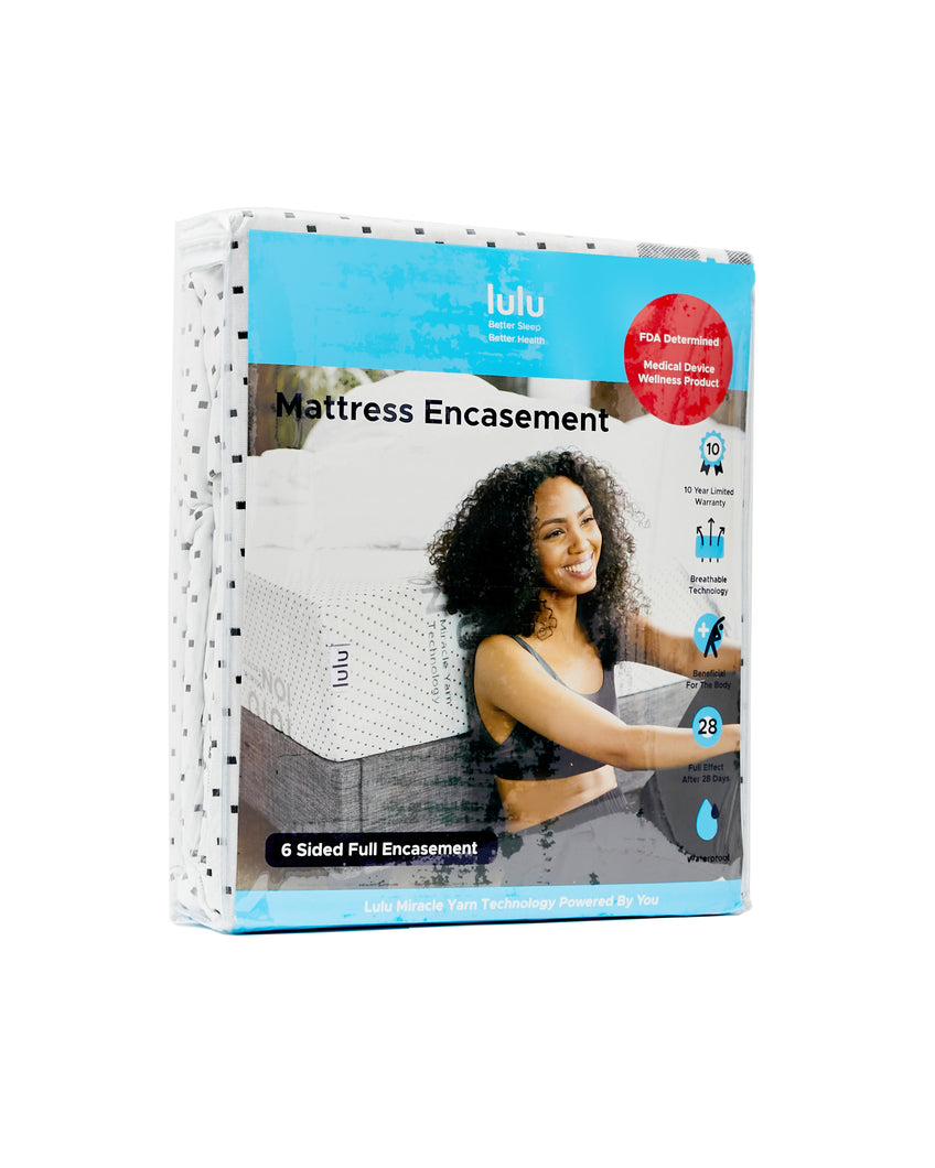 Lulu Mattress Muscle Recovery Technology Waterproof Mattress Encasement Protector- Zip-