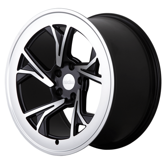Radi8 Wheels r8c5 | 19x8.5 | 5x100 | ET38 | Black/Machine Face - Redline Motorworks