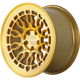 Radi8 Wheels r8a10 | 19x10 | 5x112 | ET42 | Gold/Brush Face - Redline Motorworks