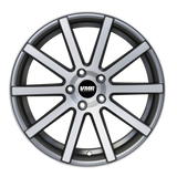 VMR V702 18x8.5 ET45 Matte Gunmetal / Brushed Face Custom Wheel - Redline Motorworks
