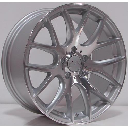 Miro 111 18x8.5 ET45 5x112 66.6 Silver with Machine Polished Face Wheel - Redline Motorworks