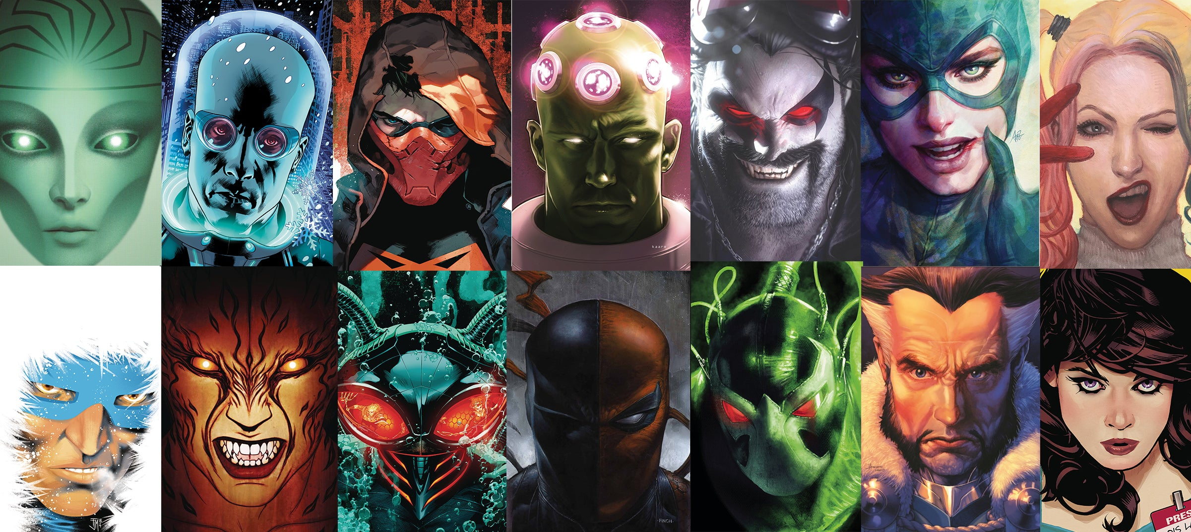 YEAR OF THE VILLAIN PORTRAIT VARIANT COVERS