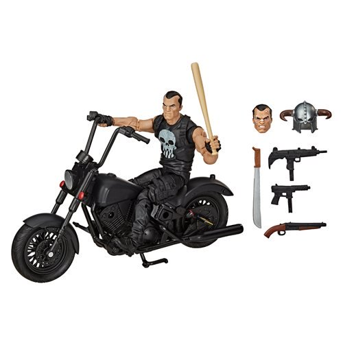Marvel Legends Series 6-inch The Punisher Action Figure with Motorcycle