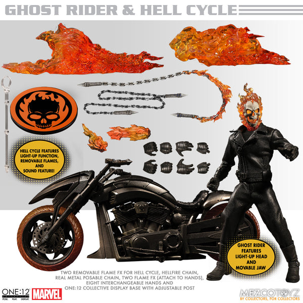 ONE-12 COLLECTIVE MARVEL GHOST RIDER & HELL CYCLE  PRE-ORDER