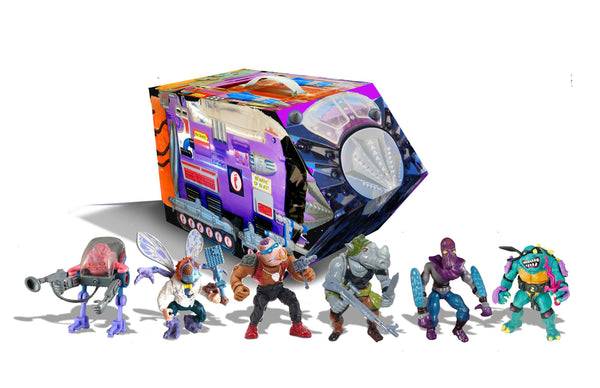 Exclusive TMNT RETRO VILLAINS MUTANT MODULE PX 6PC AF SET BY PLAYMATES