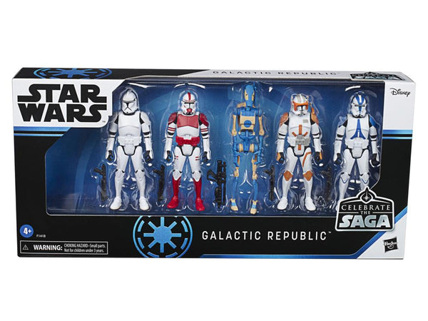 "Star Wars Celebrate the Saga Galactic Republic 3.75"" Pack of 5 Figures"