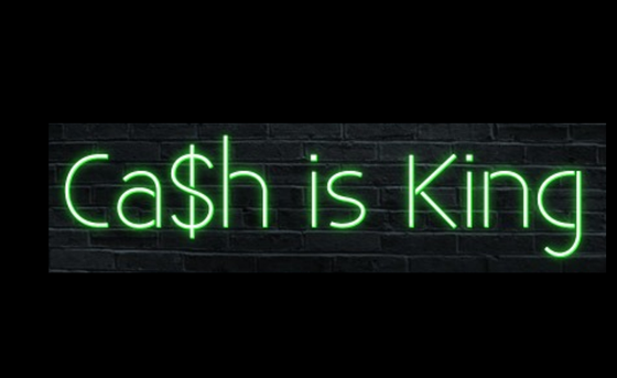 Cash is King Neon Sign