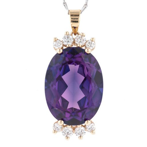 Accented Amethyst Pendant