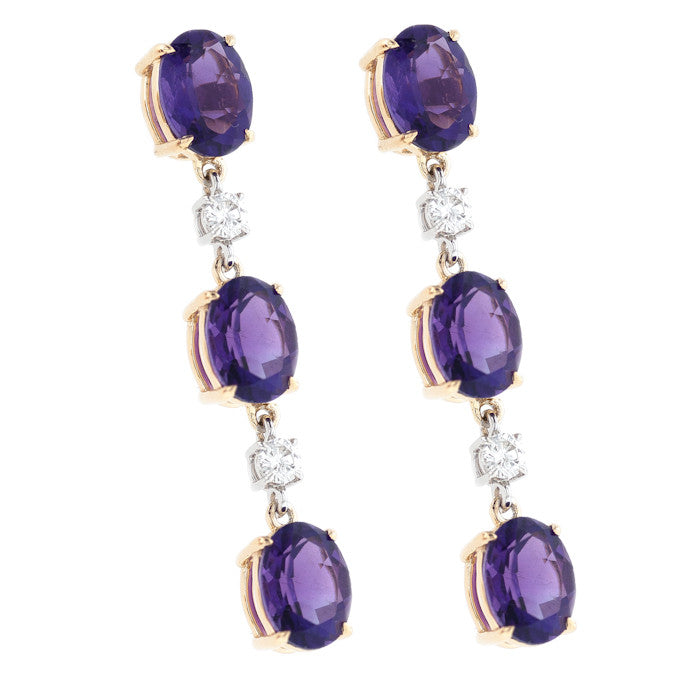 Amethyst Triple Dangles