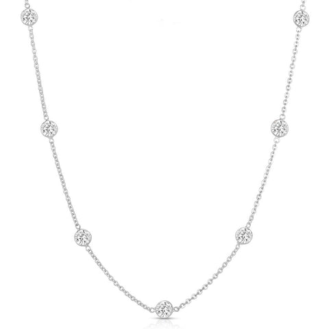 Eight Carat Station Necklace