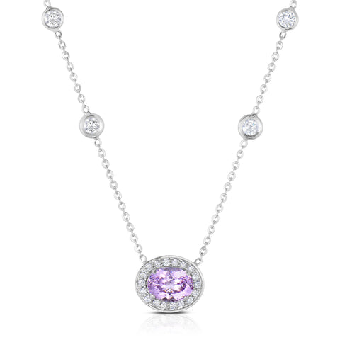 Pink Spinel & Diamond Necklace