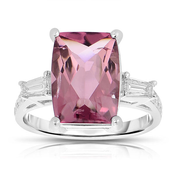 Buff Top Pink Tourmaline Cocktail Ring
