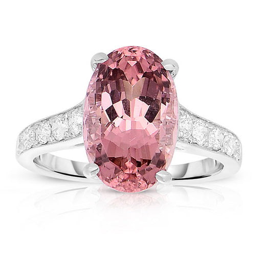 Peach Tourmaline Cocktail Ring