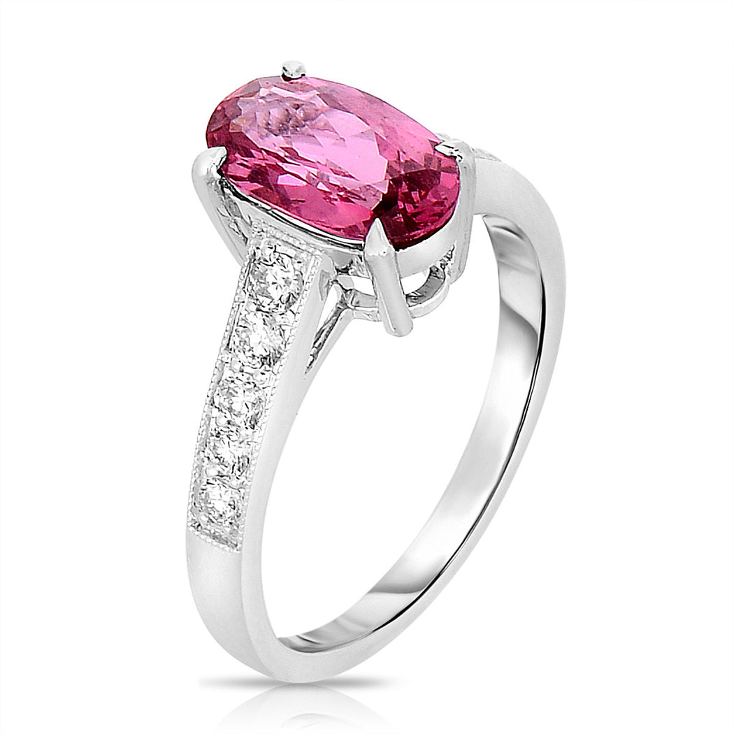 Hot Pink Sapphire Ring