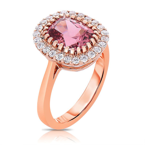 Punchy Peach Spinel Ring